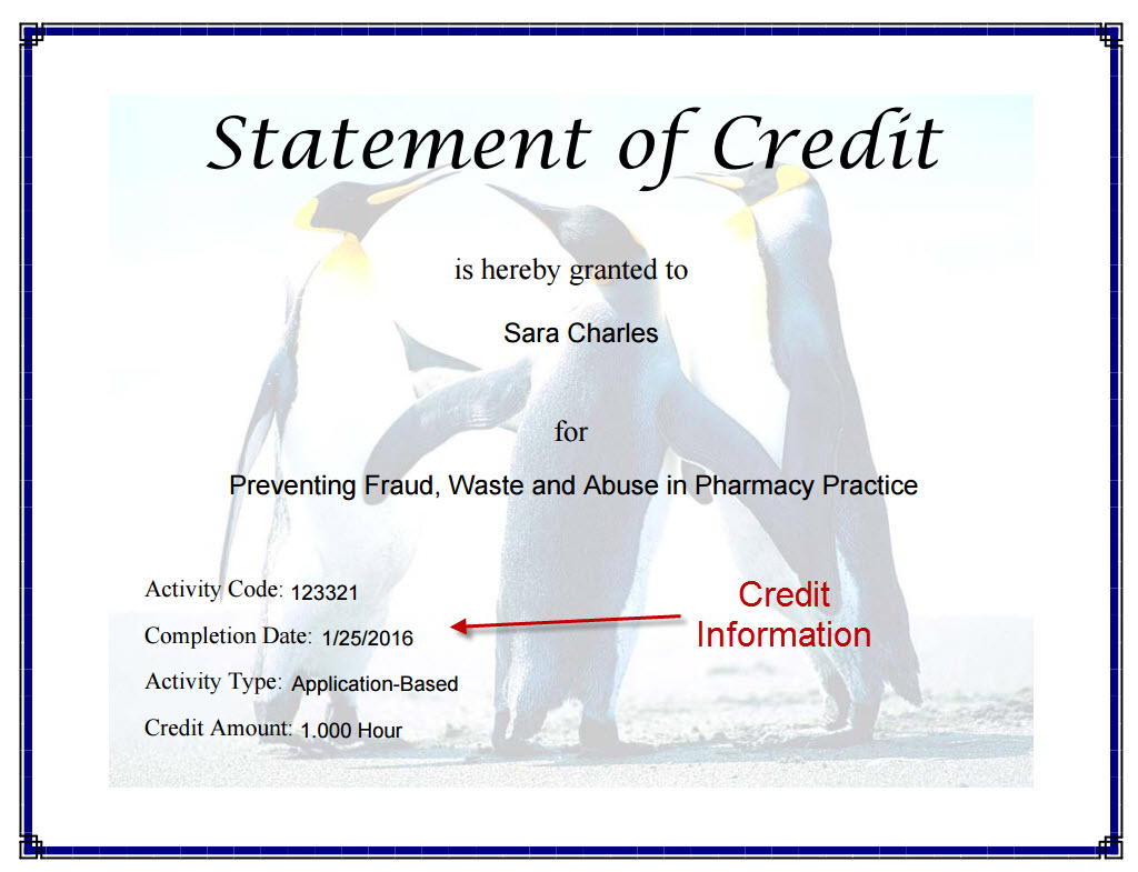 Completion certificate example statement of credit completion certificates yadclub Image collections